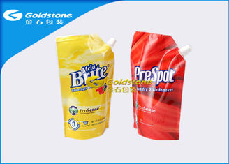 Custom Design Stand Up Pouch With Spout Washing Detergent Powder Packaging